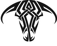Bull Head Tribal Vinyl Decal