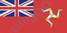 1x STICKER ISLE OF MAN FLAG UK BUMPER DECAL