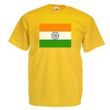 INDIAN Bandiera Emblema T-Shirt Tutte le Taglie e Colori carità