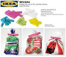 IKEA BEVARA 10 large-30 piccoli alimentari Storage Clip congelatore borsa chiusura clip