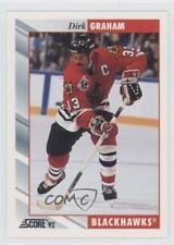 1992-93 Score #27 Dirk Graham Chicago Blackhawks Hockey Card