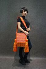 Handloom Woven Embroidery Urban Chic Tassel Fringe Tote Cross Body Bag #101