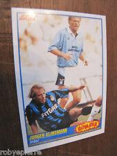 FIGURINA figurine calciatori SCORE 1992 BOMBER n 369 Jurgen Klinsmann INTER RARA