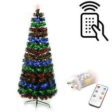 Fibre Optic Remote Controlled Christmas Tree Pre lit X-mas Party Decorations