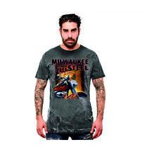 Vintage T Shirt 3 Farbtöne V Twin HD &Oldschoolmotiv Modell Milwaukee Steel
