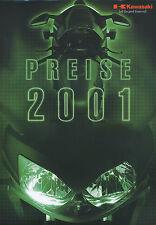 KAWASAKI listino prezzi 2001 1.1.01 price list er-5 KLX 300 R KX 65 zx-9r ZZ-R 600