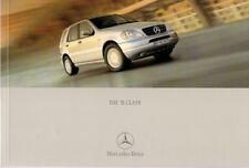 Mercedes-Benz M-Class 2000-01 UK Market Sales Brochure 270 CDi 320 430 55 AMG