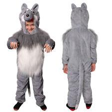 CHILD WOLF FANCY DRESS COSTUME PLUSH ANIMAL SCHOOL WORLD BOOK CHARACTER JUMPSUIT