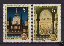 Hungría 1972 Sg # 2704-5 Constitución día conjunto Usado