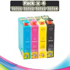 PACK 4 TINTAS T0711 T0712 T0713 T0714 T0715 COMPATIBLE IMPRESORA NONOEM CARTUCHO