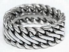 2.Wahl 925 Silber Ring Handgeflochten Silberring Wikingerring Bikerring Harley
