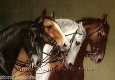 Four Horses ~ Vintage ~ Cross Stitch Pattern