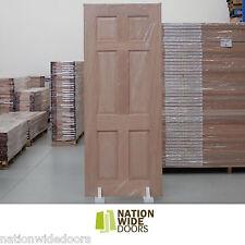 6 Panel Traditional Engineered French Solid Timber Doors Meranti Hardwood