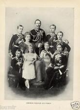 1899= GUGLIELMO II di GERMANIA Family = REGNANTI D'EUROPA= Antica FOTO