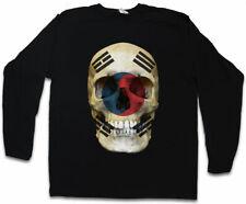 South Corée Skull Flag manches longues T-shirt Drapeau Drapeau Bannière la Corée du Sud Crâne