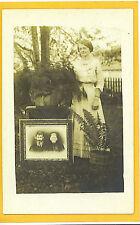 Real Photo Postcard Rppc - Woman Plants Family Portrait