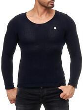 Redbridge Herren Strickpullover Slim-Fit Basic Sweatshirt Strick- Pulli Pullover