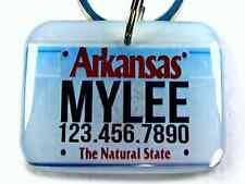 Arkansas Car License Plate Pet ID Tags custom name id4pet