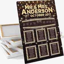 Vintage Brick Feston Light Up Lettres Table De Mariage assise plan tableau toile