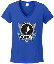 "V-NECK Ladies Luka Doncic Dallas Mavericks ""Logo"" T-shirt"