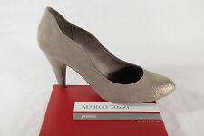 MARCO TOZZI Escarpins, beige/doré, synthétique neuf