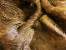 Plain Fun Faux Fur Fabric Material - NUTMEG BROWN