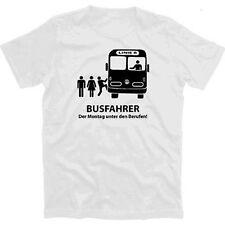 Autista di autobus-il lunedì sotto le professioni T-Shirt S-XXXL