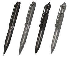 CI UZI Tactical Pen Stift Kugelschreiber Glasbrecher Kubotan Schwarz Gunmetal