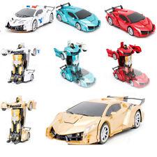Remote Controlled Car Transformer Deformation Robot Kids Children Toy Gift