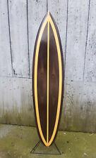 Deko Surfboard beidseitig lackiert 130cm Surfbrett surfen Holz SU 130 N14-D