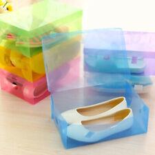 28*18*9cm Home Shoe Organizer Plastic Storage Clear Box Stackable Foldable