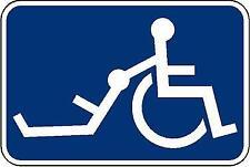 Handicap sign Funny Sticker. Vinyl Decal Sticker. Handicap Humor. Funny Signs
