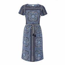 New Fantastic White Stuff Indian Summer Ink Pot Blue Dress 8-16 RRP £59.50