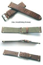 HERZOG Manufaktur Pferdelederuhrenarmband Pony Horse Vintage Handmade Retrostyle