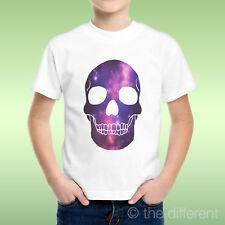 T-Shirt bébé Garçon Galaxie Crâne Tete De Mort Galaxy Idée Cadeau