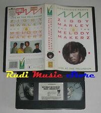VHS ZIGGY MARLEY AND MELODY MAKERZ live palladium 1988 VIRGIN no cd lp dvd(VM3)