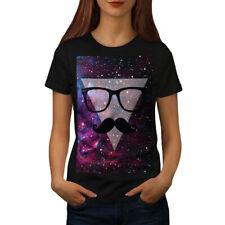 Moustache Cosmos Space Women T-shirt NEW   Wellcoda