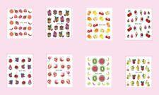 Nagelsticker Nail Aufkleber Tattoo Obst Früchte Sommer  489-496