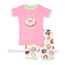 New SS17 Girls Hatley Sweet Donuts Short Pyjama Pajamas PJs 3 4 5 6 7 8