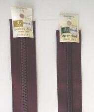 BIRCH Cranberry 175 OPEN ENDED JACKET Zip Zipper 30- 56cm CHUNKY/ STANDARD Teeth