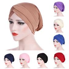 Women Muslim Frontal Cross Bonnet Hijab Turban Hat Chemo Cap Head Scarf Headwrap