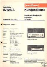 Nordmende Original Service Manual  Rigoletto Skandia 8.125 A