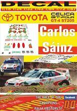DECAL TOYOTA CELICA GT 4 C. SAINZ CARRERA CAMPEONES CANARIAS 1997 (06)