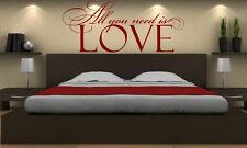 Todo lo que necesitas es amor! Smart Vinilo pegatinas de pared calcomanía Decoración. alta Calidad. Nuevo