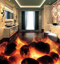 3D fuoco pietra rosso Pavimento Foto Wallpaper Murales Muro Stampa Decalcomania