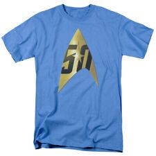 """Star Trek TOS """"50th Anniversary Delta"""" Blue Tee - Adult, Child, Toddler"""