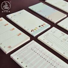 A5/A6 Cartoon Colourful Planner Diary Insert Refill Schedule Organiser 40 Sheets