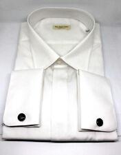 Camicia uomo slim fit BIANCO cerimonia gemelli made in italy shirt gemelli 245 C