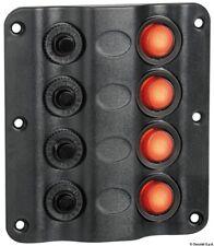 Elektrische Schalttafel  Schaltpanel Schalter Wave Design mit LED-Wippschaltern