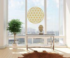 Aufkleber Blume des Lebens Lebensbume gold metallic gebürstet Fensteraufkleber